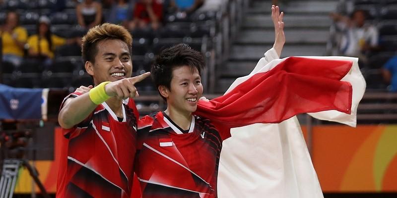 Tontowi Ahmad dan Liliyana Natsir berhasil mengalahkan pasangan Malaysia Liu Ying dan Peng Soon