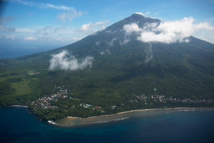 Gunung Gamalama mountain