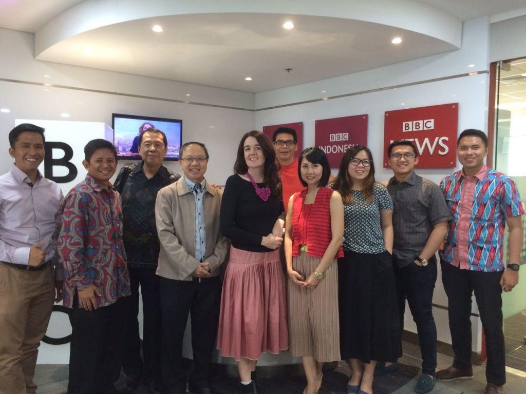 Pengurus PPI Tiongkok dan Perhati Photo Bersama pihak BBC Indonesia sesaat setelah berdiskusi